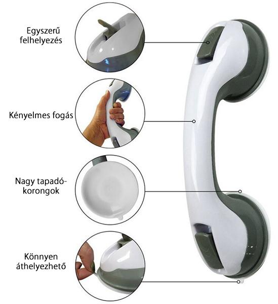 Mobil szupererős fürdőszobai kapaszkodó