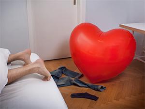 Felfújható óriás szív